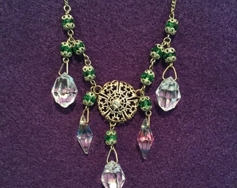 """Crystal Victorian 16"""" Necklace - CA 1890's - Item# NK104"""