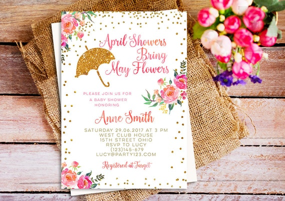 April showers bring may flowers baby shower invitation filmwisefo