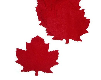 Leaves, maple leaf, maple leaves, Canadian, Canada, red maple leaf, red maple leaves, red maple, crafting, sewing, felt, supplies
