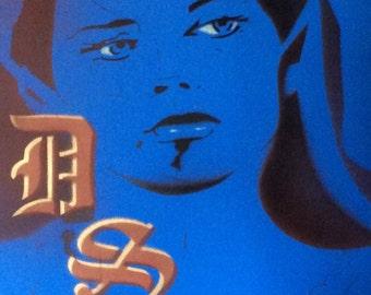 black light poster art of Dark Shadows character Victoria Winters