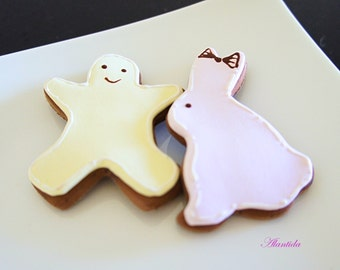 Handmade Fake Cookies,Set of 2 Faux Cookies,Baby Shower Gift,Easter Gift,Photography Props,