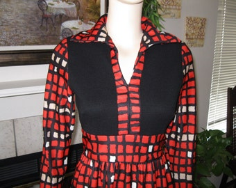 Vintage 60's Little Red Box Dress by Shannon Rodgers for Jerry Silverman