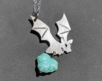 Silver Bat Pendant