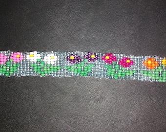 Flowers Beaded Bracelet