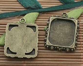 15pcs bronze tone rectangle picture frames h3290