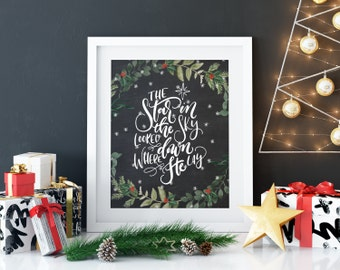 Christian Christmas print, christmas decoration, Christmas canvas print Holiday decoration holiday decoration chalkboard Christmas art print