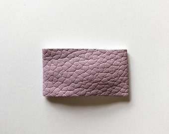 Purple faux leather snapclip