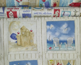Cotton Quilting Fabric Collection Surf's Up Northcott 5 fabrics plus Panel  Sewing Crafting Multi Lengths