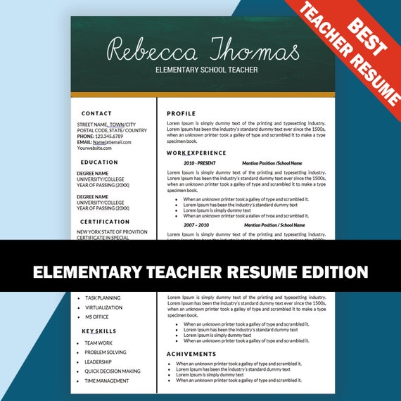 il_570xN.1181313881_7mnm One Page Resume Format For Teacher on experienced professional, for cardiology, template ms word for sales, sample for experienced person, templates that are free,