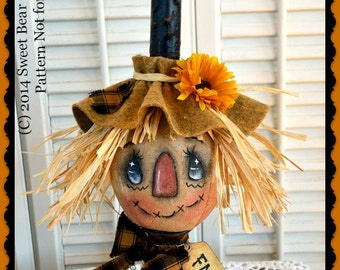 Primitive Scarecrow Pattern, Cloth Doll Pattern, Candle Series 1, Fall Candle, Fall Scarecrow, Primitive Pattern