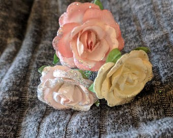 Rose Hair Pins 3 PC Mix and Match