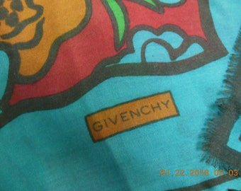 """Givenchy  54 x 54 """" brand new silk,cashmere and wool  scarf"""