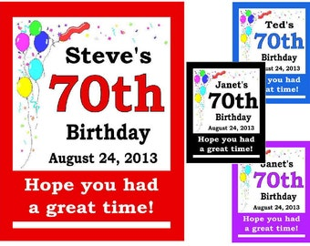 15 ~ 70th Birthday Party Favors Personalized MAGNETS ~ FREE SHIPPING