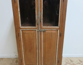 Antique Primitive architectural salvage Hutch China Cabinet Cupboard m C