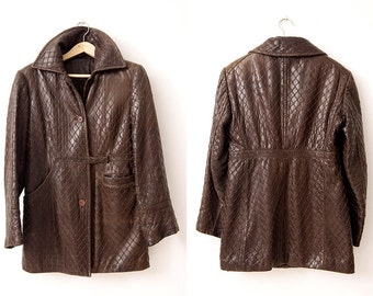 Vintage Women's Brown Leather Jacket