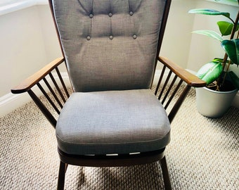Vintage Ercol Evergreen Model 1913 High Backed Armchair in Golden Dawn Finish