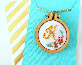 Letter Initial Necklace, Custom Initial Jewelry, Monogram Necklace, Name Necklace, Bridesmaid Gift, Gift for Her,Wearable Art,Gift for Teens