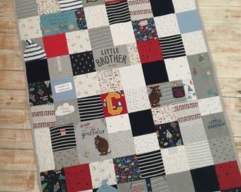 Keepsake Blanket Large Size - Baby Clothes - Memory Blankets - Baby Clothes Blanket - Gifts from Kids - Family Keepsake - Baby Memories