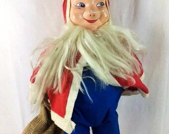 Vintage Santa Doll With Sack Christmas Santa Vintage Santa Doll Old Christmas Doll Santa Claus - 1960s