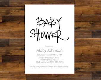 Modern Baby Shower Invitation