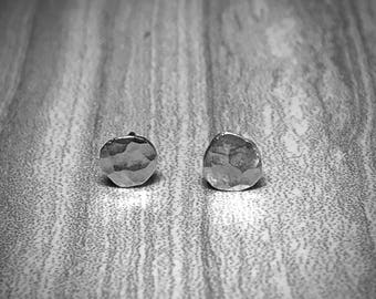 Sterling Silver Hammer Finished Studs