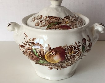 Ridgeway Staffordshire England Sugar Bowl Devon Fruit