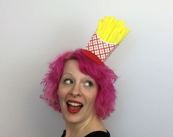 French Fries Fascinator, French Fry Hat