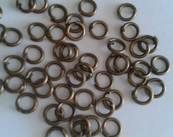 100 bronze jump rings - 3mm