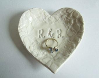 Mr. and Mrs. Ring holder Ring Dish White
