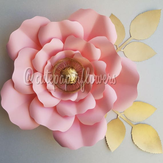 PDF paper flower template no.7 paper flower DIY Paper