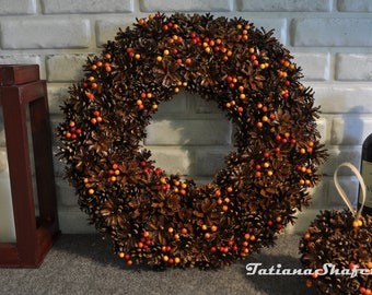 Door wreath, Table decor, Natural wreath, Front door decoration, All year wreath, Summer decor, Holiday wreath