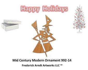 992-14 Mid Century Modern Christmas Ornament