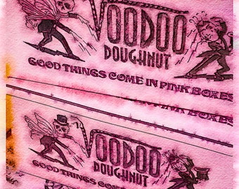Little Pink Dougnut Boxes for You and Me: A Watercolor Photo-Illustration of the FAMOUS boxes seen leaving DIA for all parts of the world!