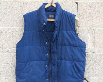 DKNY vintage puffy vest womens L