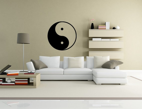 Ying and Yang Vinyl Decal Wall Art Spiritual decals feng shui