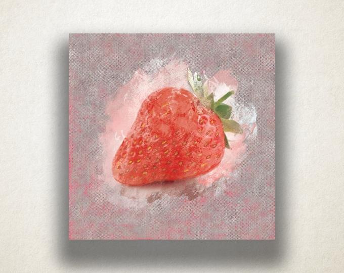 Strawberry Painting Canvas Art Print, Fruit Wall Art, Food Canvas Print, Artistic Wall Art, Canvas Art, Canvas Print, Home Art, Wall Art