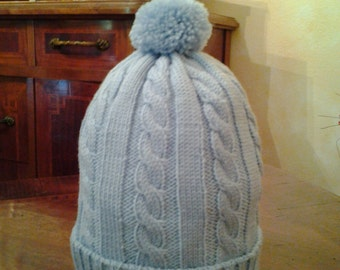 Wool and cashmere beret