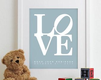 Newborn Baby Gift for Christening Gift, Baptism Gift, Baby Boy Gift for Boy Baby Shower Gift for Baby Boy Shower Gift Love Print