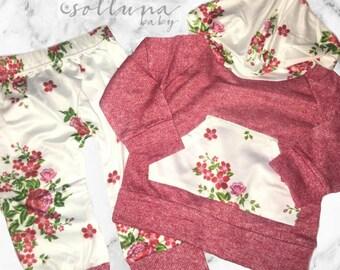 Floral Hoodie Set