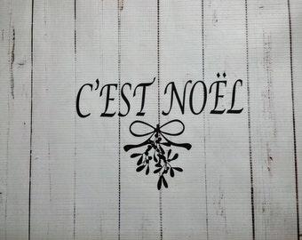 Christmas Vinyl Wall Decal C'est Noel