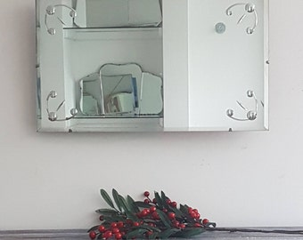 Mid Century Mirror 1950s Etched Mirror High Quality Contemporary Decor Living Room Mirror Overmantel Bathroom Mirror