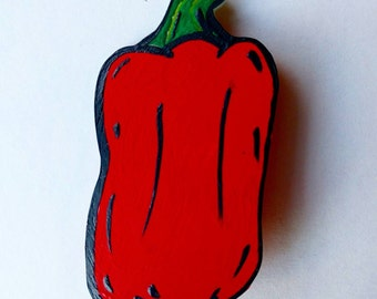 Red pepper button
