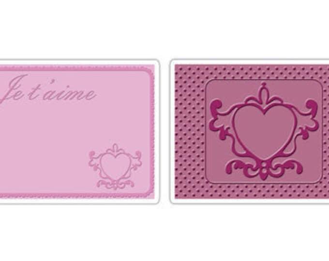 Sizzix Textured Impressions Embossing Folders 2PK - Love Set #3 (657092)