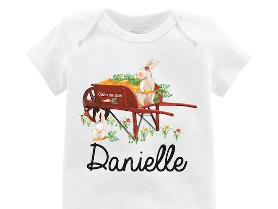 Girl Easter Bunny Shirt Easter Bunny Onesie Personalized Onesie Black Raglan Flutter Sleeve Girl Shirt Monogram Shirt Easter Rabbit Flowers