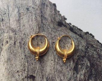 Gold plated Ethnic Dot earrings