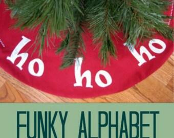 Funky Alphabet Applique Template - Alphabet Applique Pattern - PDF Pattern, DIY