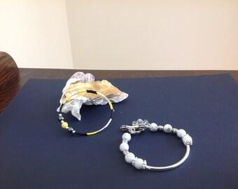 Howlite and Silver bracelet
