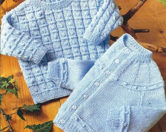 Baby Knitting Pattern Cardigan & Sweater  pdf
