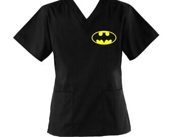 Batman Scrub Top