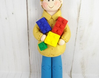 Handmade Building Bricks Christmas Ornament - Christmas Gifts for Men - Christmas Present Adolescent Boy - Gift for Engineer -6310